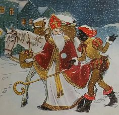 Sinterklaas en Piet Door winters weer