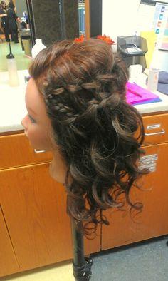 Hair updo Double waterfall