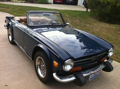 My very first love, at the ripe age of 5, was this little car. The Triumph TR6. Even today, it still speaks to me in that same manner.