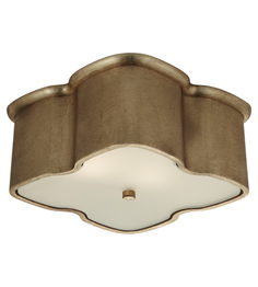 Visual Comfort ARN4041G AERIN Bolsena Clover Flush Mount in Gild