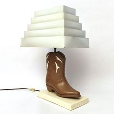Vintage Cowboy Boot Lamp, $239, now featured on Fab.