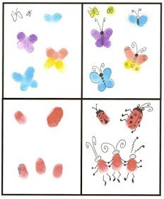 Kids4crafts.net: Fingerprint Bugs