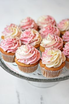 Champagne Cupcakes with Pomegranate Champagne Frosting