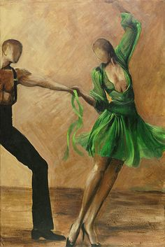 Salsa by Sheri  Chakamian - Salsa Painting - Salsa Fine Art Prints and Posters for Sale