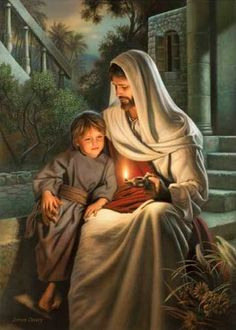 Simon Dewey - Pure in Heart. Blessed are the pure in heart: for they shall see God. Matthew Children of God Simon Dewey, Image Jesus, Pictures Of Christ, Church Pictures, Lds Art, Jesus Christus, My Jesus, Jesus Pics, Light Of The World