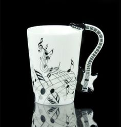 Guitar Electric Bass Music Note Coffee Cup Mug · MustHaveGift · Online Store Powered by Storenvy