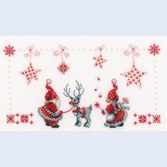 Christmas Elves - kruissteekpakket met telpatroon Vervaco