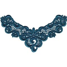 teal lace applique, could this be your something blue?