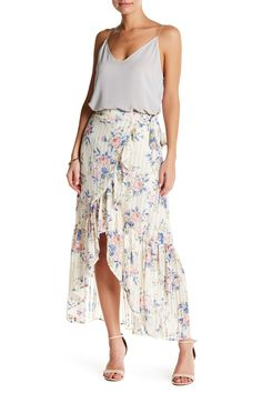 15920c70eb Wrap styling accentuates the flowy drape and movement of a lightweight maxi  skirt that looks equally. Nordstrom Rack