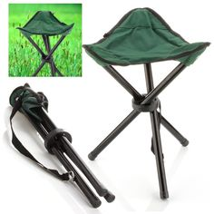 Gossip-Boy Portable Folding Stool Camping Folding Chairs Outdoorwith Storage Bag