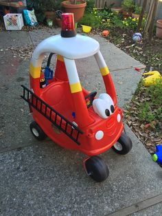 My makeover of Carters cozy coupe...