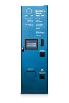 Bettery kiosk will accept all types of dead batteries, recycling the single-use batteries and recharging the chargeable ones.  It will dispense fully charged Bettery batteries for reuse.