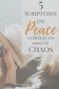 5 Powerful Scriptures on peace that you can pray in the midst of chaos and all of life's stresses! There is power in praying scripture! Prayer For Peace, God Prayer, Verses On Peace, Prayer Box, Stress Scriptures, Bible Scriptures, Scripture Art, Christian Living, Christian Faith