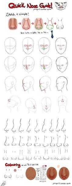 Quick Nose Guide by juliajm15 on DeviantArt