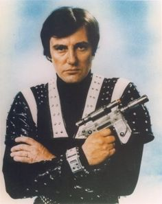 Paul Darrow as Avon in Blake's 7 - with teleport bracelet, nothing like as good as the ones I made! Orac the pedantic computer was easy to make too. It looked like a plastic box.