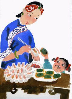 Stuffing Hakka tofu - Meilo So Illustrations (c)