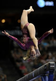 Women's Gymnastics wag gymnast on balance beam #KyFun