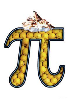 Pi - Food - Lemon Meringue by Mike Savad Pi Puns, Lemon Meringue Pie, Food, Essen, Yemek, Meals