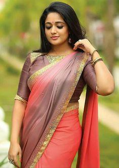 New Stylish Blouse Designs For Sari - Indian Fashion Ideas Most Beautiful Indian Actress, Beautiful Actresses, Beauty Full Girl, Beauty Women, Kavya Madhavan Saree, Stylish Blouse Design, Saree Models, Beautiful Girl Image, Beautiful Women