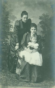 Queen Olga with her daughter, Alexandra, and granddaughter, Maria.