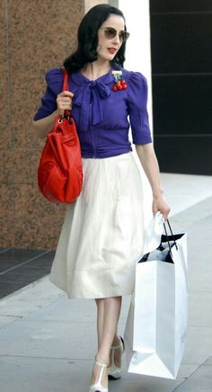 Dita Von Teese Style...this is so me shopping around Manchester