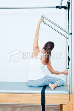 Female Athlete, Pilates Exercise Royalty Free Stock Photo