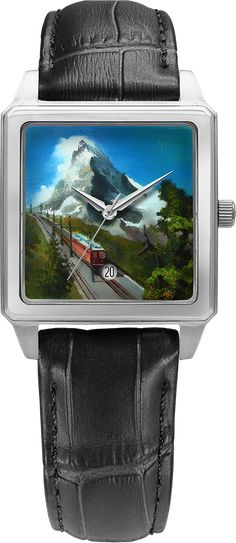 Classic and exclusive Swiss watches L Duchen Swiss Made Watches, Zermatt, Quartz Watches, Make Art, Stainless Steel Case, Contemporary Art, Unique Gifts, Sapphire, Miniature