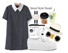 """""""Street Style Trend: Contrast Collar Plaid Back Zipper Dress"""" by laurencia-813 on Polyvore"""