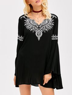 SHARE & Get it FREE | Trumpet Sleeve Smock DressFor Fashion Lovers only:80,000+ Items • New Arrivals Daily • Affordable Casual to Chic for Every Occasion Join Sammydress: Get YOUR $50 NOW!