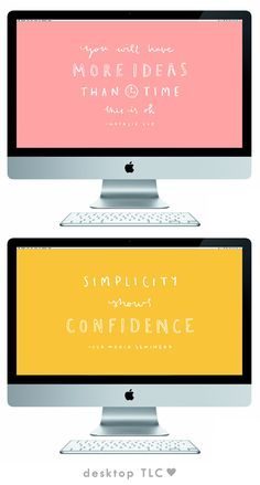 Here I am to deliver you this month's free desktop wallpapers, packaged and sealed with love. There was an abundance of take away quotes from Blogtacular so it seemed like a no brainer for t...