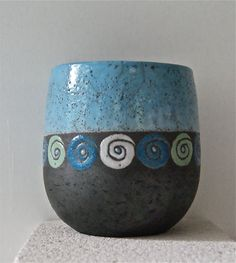 mug bleu motifs escargots
