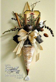 Victorian Christmas Decorations, Vintage Christmas Ornaments, Handmade Christmas, All Things Christmas, Christmas Holidays, Christmas Mantles, White Christmas, Christmas Garlands, Holly Christmas