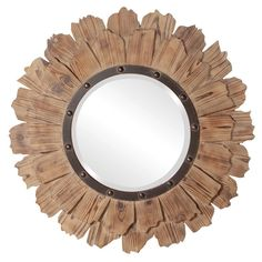 "Howard Elliott Hawthorne Round Mirror 35"" Diameter x 2"""