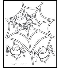 9 Halloween Color Pages To Print | Halloween Coloring, Printing And Spider  Pumpkin