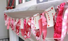 Valentine's Day Heart Cards Garland – Happiness is Homemade