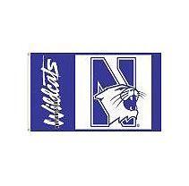 NCAA Northwestern University Wildcats 3' x 5' Flag with Pole Mount Kit