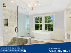 Contemporary Bathroom - Bridgehampton Traditional New Construction Contact us by sending a message on whatsapp and we will contact you 631.287.0891 #bathroomdesign #interiordesign #bathroom #bathroomdecor #design #interior #homedecor #bathroomremodel #architecture #bathroominspiration #bathroomrenovation #bathroominspo #homedesign #home #renovation #tiles #bathroomideas #interiors #bathroomgoals #interiordesigner #decor #bathrooms #tile #shower #traditional #construction Hamptons House, The Hamptons, Custom Home Builders, Custom Homes, Home Developers, Bathroom Goals, New Home Construction, Bathroom Inspiration, Bathrooms