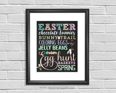 Easter Wall Print Easter Decor 8x10 Wall Sign by simplyprintable