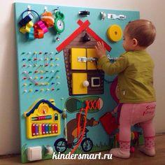 Доска Монтессори (бизиборд). Развивающая игрушка для детей ручной работы. Подробнее на www.kindersmart.ru