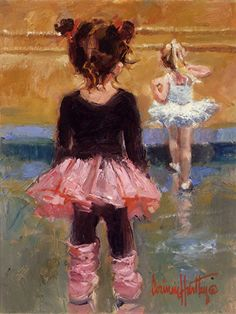 She& Good by Corinne Hartley Oil ~ 14 x 11 Art Ballet, Ballerina Painting, Ballet Girls, Painting People, Painting For Kids, Painting & Drawing, Ballerina Kunst, Illustration Noel, Impressionist Artists