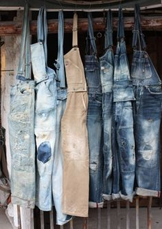 overalls...whether they're on-trend or not, you'll always find at least one pair in my closet