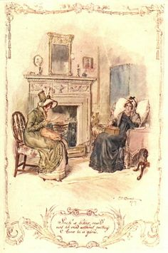 Illustration from Persuasion, Reading a Letter