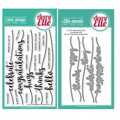 Avery Elle Clear Stamp and Die SETSNAE Sentimental SET zoom image