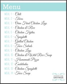I am SUPER Excited to share this new 2 Week Meal Plan with you because I have go., I am SUPER Excited to share this new 2 Week Meal Plan with you because I have go. I am SUPER Excited to share this new 2 Week Meal Plan with you bec. Monthly Meal Planning, Family Meal Planning, Budget Meal Planning, Budget Meals, Family Meals, Weekly Meal Plan Family, Budget Recipes, Monthly Menu, Weekly Menu