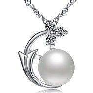 BRI.R® Fashion S925 Silver Inlaid Natural Pearl Pendant Necklace – CAD $ 38.91