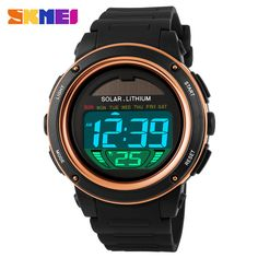 Discount Today $8.30, Buy NEW SKMEI Brand Watch Solar energy Men Electronic Sports Watches Multifunctional Outdoor Water Resistant Digital Wristwatches
