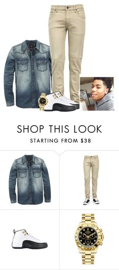 """""""at school"""" by jchristina ❤ liked on Polyvore featuring GUESS, TAXI, Rolex, men's fashion and menswear"""