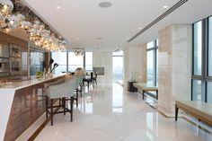 Kitchen peninsula London - contemporary - chandeliers - london - Borghese Luce arte