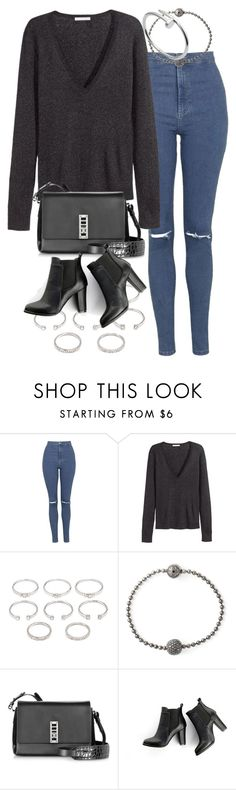 """""""Untitled #1482"""" by sophiasstyle ❤ liked on Polyvore featuring Topshop, H&M, Forever 21, Shamballa Jewels, Proenza Schouler, SWEET MANGO and Cartier"""