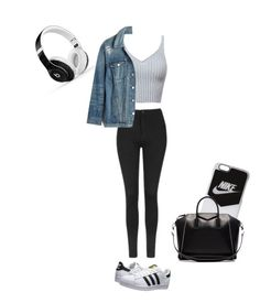 """"""""""" by jaydapolise on Polyvore featuring Topshop, Madewell, NIKE, adidas Originals, Givenchy and Beats by Dr. Dre"""